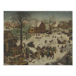 Pieter Bruegel年長者-ベスレヘムの番号付け フォトプリント