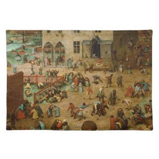 Pieter Bruegel年長者-子供のゲーム ランチョンマット