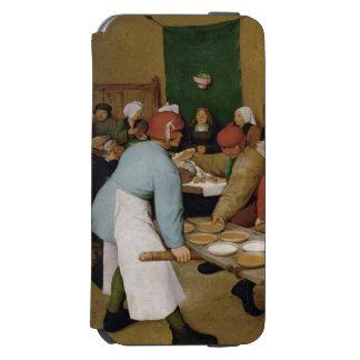 Pieter Bruegel年長者-小作農の結婚式 iPhone 6/6sウォレットケース