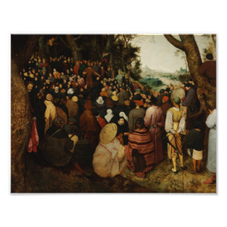 Pieter Bruegel年長者-聖ヨハネの説教 フォトプリント