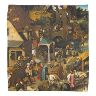 Pieter Bruegel著オランダの諺年長者 バンダナ