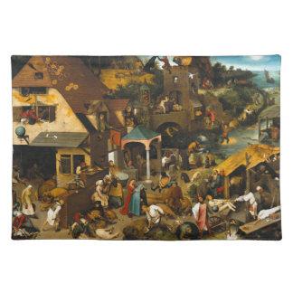 Pieter Bruegel著オランダの諺年長者 ランチョンマット