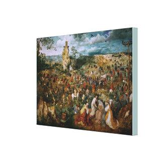 Pieter Bruegel著カルヴァリーへの行列El キャンバスプリント