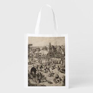 Pieter Bruegel著セントジョージの日の市 エコバッグ