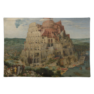 Pieter Bruegel著バベルの塔 ランチョンマット