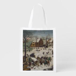 Pieter Bruegel著ベスレヘムの人口調査 エコバッグ