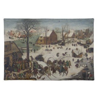 Pieter Bruegel著ベスレヘムの人口調査 ランチョンマット