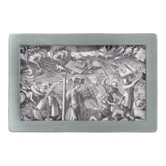 Pieter Bruegel著勇気年長者 長方形ベルトバックル