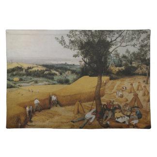 Pieter Bruegel著収穫機年長者 ランチョンマット