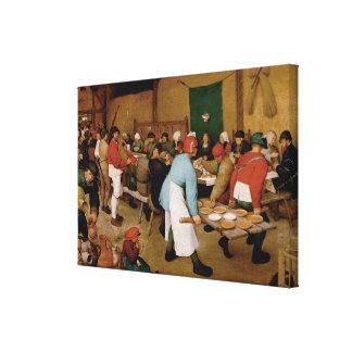 Pieter Bruegel著小作農の結婚式年長者 キャンバスプリント