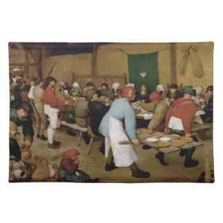 Pieter Bruegel著小作農の結婚式年長者 ランチョンマット