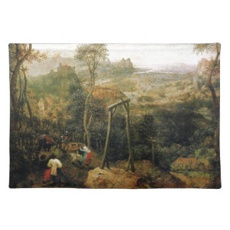 Pieter Bruegel著絞首台のカササギ ランチョンマット