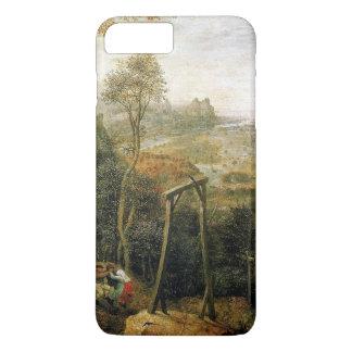 Pieter Bruegel著絞首台のカササギ iPhone 8 Plus/7 Plusケース
