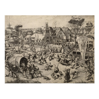 Pieter Bruegel著聖者のゲオルゲス日の市 ポストカード