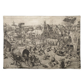 Pieter Bruegel著聖者のゲオルゲス日の市 ランチョンマット