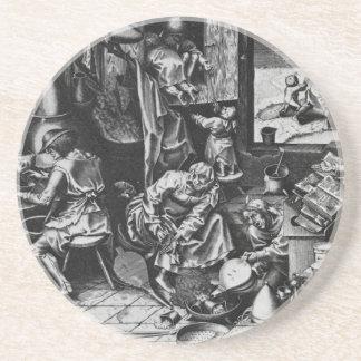 Pieter Bruegel著錬金術師年長者 コースター