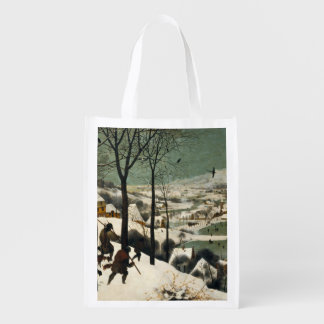 Pieter Bruegel著雪のハンター年長者 エコバッグ