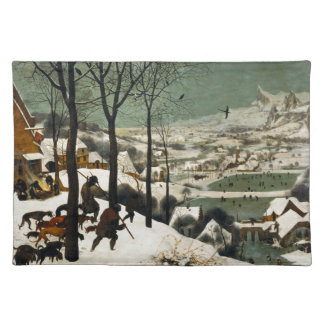 Pieter Bruegel著雪のハンター年長者 ランチョンマット