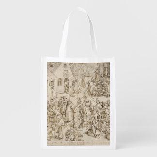 Pieter Bruegel著Caritas (慈善)年長者 エコバッグ