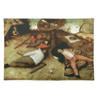 Pieter Bruegel著Cockaigneの土地年長者 ランチョンマット