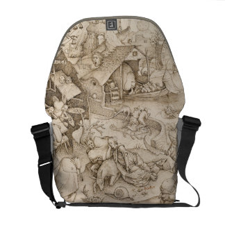 Pieter Bruegel著Desidia (怠惰)年長者 メッセンジャーバッグ