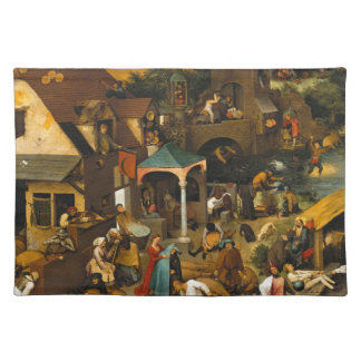 Pieter Bruegel著Netherlandishの諺年長者 ランチョンマット
