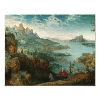 Pieter Bruegel -エジプトに飛行と美化して下さい フォトプリント