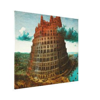 PIETER BRUEGEL - 1563年小さいバベルの塔 キャンバスプリント