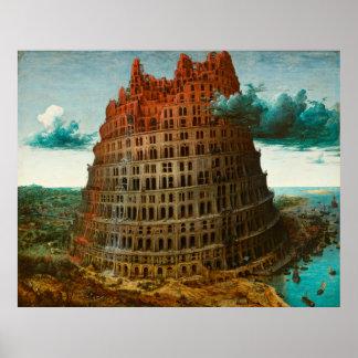 PIETER BRUEGEL - 1563年小さいバベルの塔 ポスター