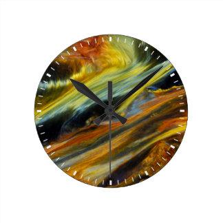 Pietersiteのカラフルの抽象芸術 ラウンド壁時計