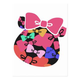 Piggy's face-ribon- ポストカード