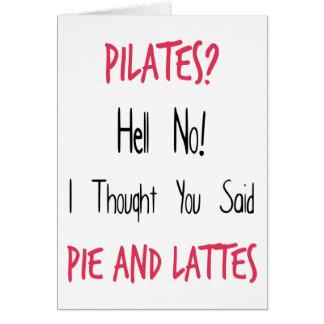 Pilatesのおもしろいな引用文、黒およびピンク カード
