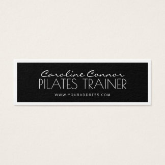 Pilatesのトレーナーの黒い及び白によって縁どられるカード スキニー名刺