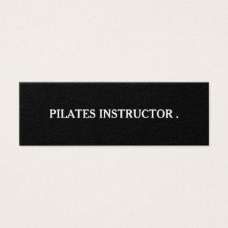 Pilatesのヨガのインストラクターの先生 スキニー名刺