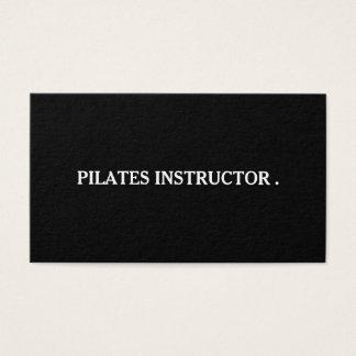 Pilatesのヨガのインストラクターの先生 名刺