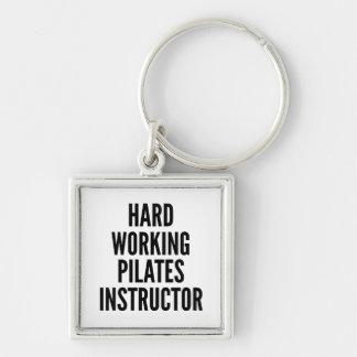 Pilatesの堅い働くインストラクター キーホルダー