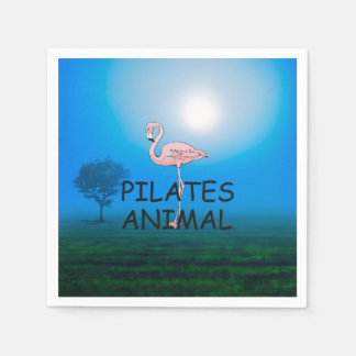 Pilates上の動物 スタンダードカクテルナプキン