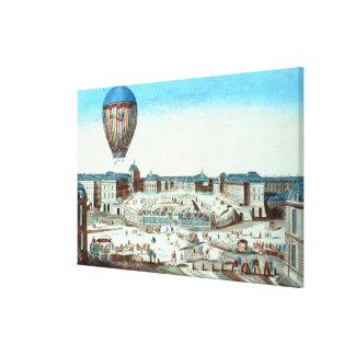 Pilatre du Rozier'sの熱気Baの第一便 キャンバスプリント
