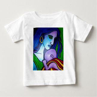 Piliero著お母さんの愛 ベビーTシャツ