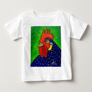 Piliero著オンドリ ベビーTシャツ