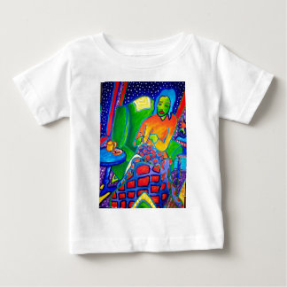 Piliero著夜編み物 ベビーTシャツ