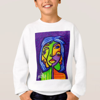 Piliero著抽象的な女性J 3 スウェットシャツ