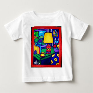 Piliero著赤いランプ ベビーTシャツ