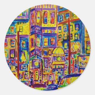 Piliero著都市景観ブロンクス ラウンドシール