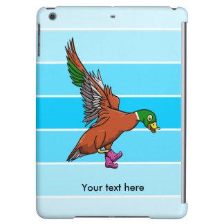 Pilkaの点Gumbootsを身に着けているおもしろいで飛んでいるなアヒル iPad Airケース