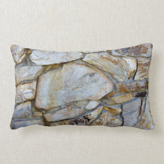 Pilllowの石の壁の質の写真 ランバークッション