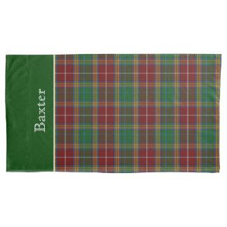Pillow Caseクラシックなバックスターのタータンチェック格子縞王 枕カバー