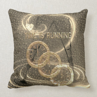 Pillows- Time is running-Designed in elegant gold. クッション