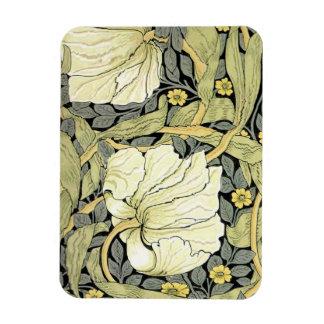 Pimpernelの黄色緑花パターンヴィンテージの壁 マグネット