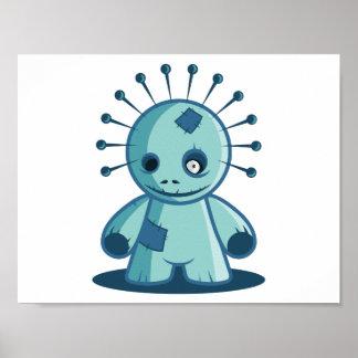 Pinの頭部のブードゥーの人形ポスター ポスター